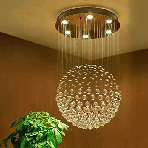 Moderne Kristall Regentropfen Kronleuchter Beleuchtung Unterputz LED Deckenleuchte Pendelleuchte für Esszimmer Badezimmer Schlafzimmer Wohnzimmer 6 GU10 LED-Lampen Erforderlich H80 X D45