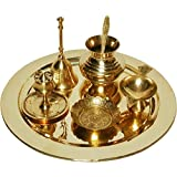 E-Handicrafts Brass Pooja Thali Set