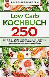 Low Carb Kochbuch: 250 Low Carb Rezepte für eine kohlenhydratarme Ernährung....