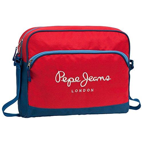 Pepe Jeans Bicolor Boy Mochila Tipo Casual, 11.78 Litros, Color Rojo