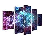 islandburner Bild Bilder auf Leinwand Sternennebel Sterne Weltall Galaxie MF XXL Poster Leinwandbild Wandbild Dekoartikel Wohnzimmer Marke