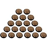 Fabric and Lace Buttons designer buttons for crafts/stitching/jewelry/artwork (Fabric and Metal Embroidery Buttons, 2.5 cm x 2.5 cm x 0.5 cm, Black and Beige, Pack of 20, BT021j)