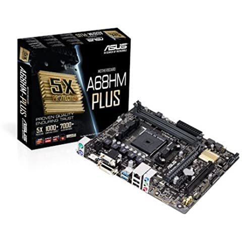 ASUS A68HM-Plus - Placa base (DDR3, DIMM, Dual, AMD, AMD A, Athlon, Socket FM2+)