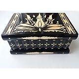 Caja puzzle grande prima negro, caja enorme del rompecabezas de la secreta, caja mágica, caja de joyería de almacenaje de madera , caja tallada de la sorpresa, juguete de madera para los cabritos