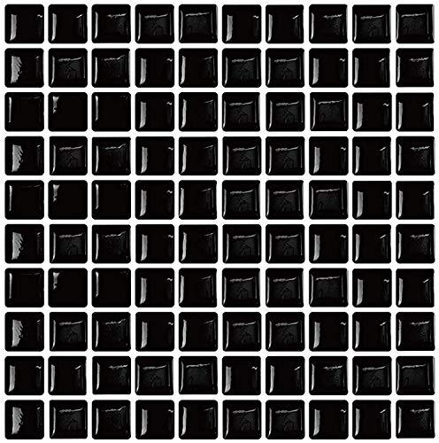 Bemerkenswerte Anti-Mold schälen und Selbstklebendes Wand Fliesen Vinyl für Home Decor schwarz (Schwarz-vinyl-fliesen)