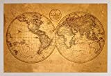 Frame USA Alte Weltkarte Poster (36x 24) in Ein weiß Kunststoff Rahmen 29295-psa010500