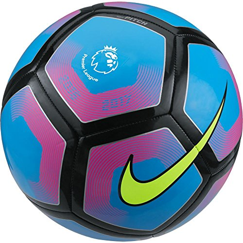 Nike Uni Pitch-Premier League Ball, Cyan/Pink Blast/Volt, 5