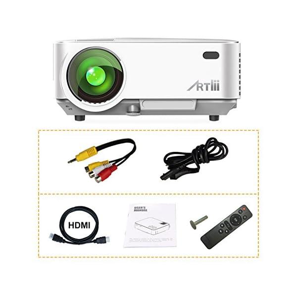 Artlii-Videoprojecteur-Portable-Retroprojecteur-2000-lumens-LED-HD-1080p-Projecteurs-pour-Jeu-Video-Photos-Films-Blanc