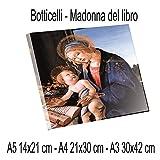 Social Crazy Stampa Diretta su PLEXIGLAS ULTRAHD - Botero - Madonna del libro - 100% QUALITà ITALIA pannello Dipinto Idea Regalo Casa quadro cucina stanza da letto soggiorno (A4)
