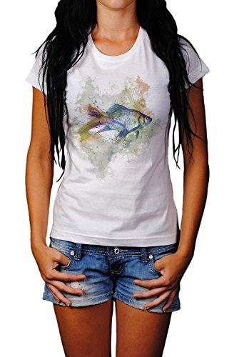 Fisch Lady T- Shirt , Stylisch aus Paul Sinus Aquarell Old Style