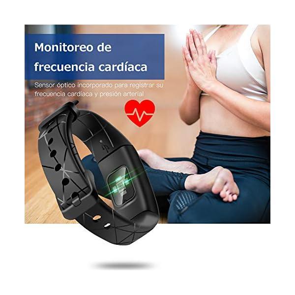 Sonkir Fitness Tracker HR, Reloj de Seguimiento de Actividad con Monitor de frecuencia cardíaca, podómetro, Contador de calorías, Monitor para Dormir, Pulsera Inteligente Resistente al Agua IP68 3