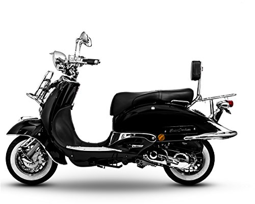Retro Roller EasyCruiser Chrom 125 ccm schwarz standart basis version Motorroller Scooter Moped Mofa Easy Cruiser