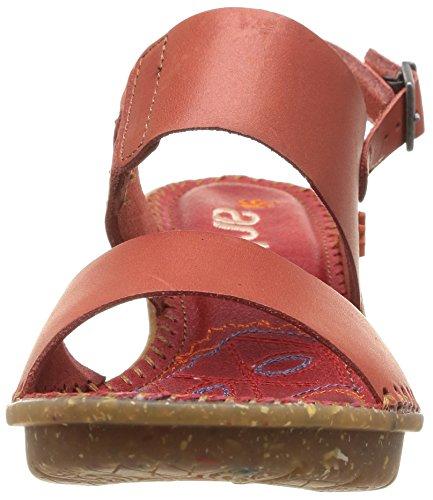 Sandali Con La Zeppa Di Art Venice Ladies Sandalo Con Zeppa Rosso (granada)