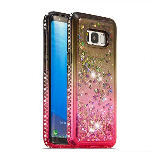 bf4c2863806 Galaxy S8 Case Glitter [Free Tempered Glass Screen Protector],Mo-Somnus [