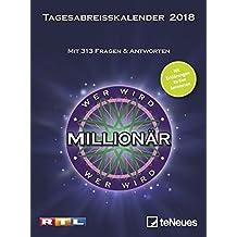 Wer wird Millionär 2018 - Tagesabreisskalender zum Film, Quizkalender mit Tischaufsteller, Wissenskalender - 14,5 x 13,7 cm