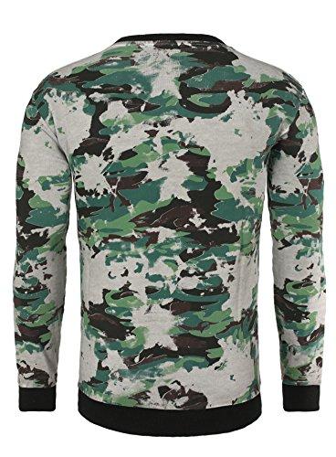 Redbridge Herren Longsleeve PARMA im Camouflage Look mit Born to be Famous Print Khaki