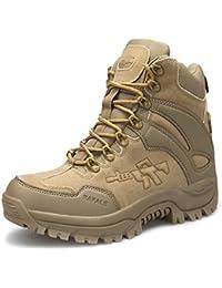 MERRYHE Stivali Tattici Per Gli Uomini Esercito Militare Di Combattimento Stivali Sicurezza Polizia Cadet Sicurezza Desert Boots Lace Up Scarpe Da Montagna Arrampicata,Black-45