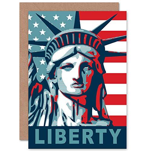 FINE ART PRINTS Statue of Liberty American Icon Greeting Card with Envelope Inside Premium Quality Freiheit amerikanisch -