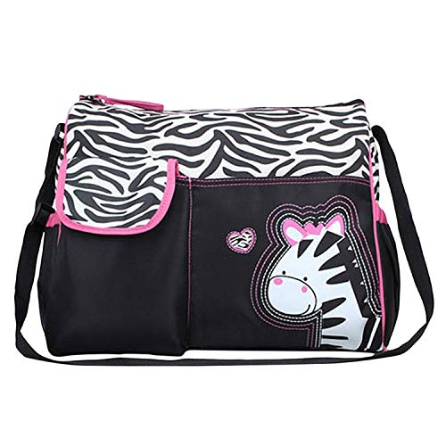 Baby Bucket Diaper Changing Bag - Zebra Pattern - Multi Color