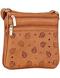 Aadhunik Libaas Trendy Stylish Leaf Cut Work Small Sling Bags, Crossbody Bag, Shoulder Bag (Handbag) For Women's...