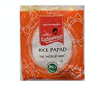 Swadbandhu Kathiyawadi Rice Papad - Khichia Rice Papad - Garlic Chilli Flavoured Papad - Hygienically Prepared - Ready to Fry/Roast Papadums - Best Meal Accompaniment - 1000g (200g x Pack of 5)