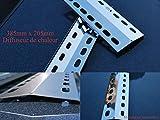 Manufaktur Stollenwerk 385mm x 205mm Edelstahl Flammenverteiler/Flammenabdeckung/Grillblech – super Ersatzteil für viele verschiedene Gasgrills u.a. Campingaz und Tepro (385-205-1)