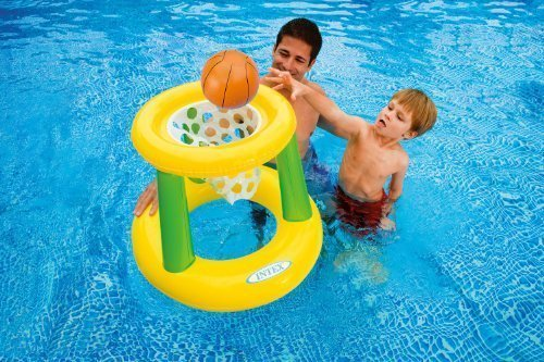 Inflatable Floating Hoops Basketball Pool Game - Great Fun For All Family and Friends! Easy to Inflate, Store and Travel With! by Manetia