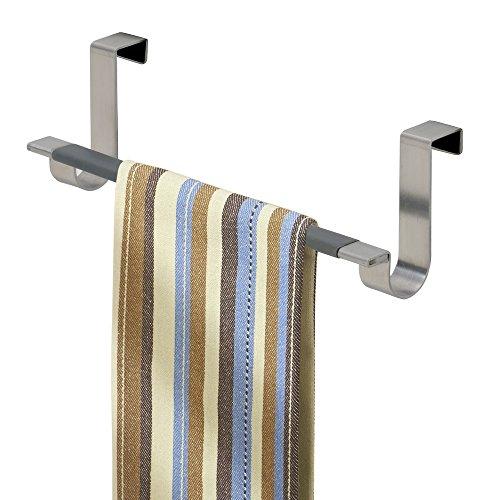 Mdesign appendi strofinacci o appendi asciugamani da agganciare – porta asciugamani per cucina senza bisogno di forare il muro – facile montaggio – colore: nero
