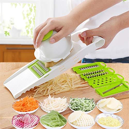 WE-WIN Manuelle Gemüseschniter-Kartoffel Fruchtkutter Edelstahlküche mit Lebensmittelschaufeln