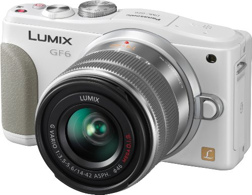 Panasonic DMC-GF6KEG9W LUMIX Systemkamera (16 Megapixel, 7,6 cm (3 Zoll) LCD-Display, Full HD) inkl. H-FS1442AE-S Lumix Vario Objektiv weiß