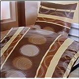 Bettwäsche/ Microfaser leicht/ Set 2-tlg./ mit Reißverschluss/ verschiedene Motive/ leichte Sommer Qualität/135x200cm/ Bügelfrei/ Hautsympathisch: Farbe: Braun/Vanille