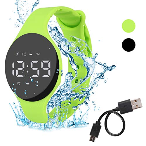 Hootracker Smartwatch Schrittzähler Fitness Armband Wasserdicht IP68 Aktivitätstracker,Schrittzähler,Kalorienzähler Ohne Bluetooth für Damen Kinder Herren Ohne App Handy-Green