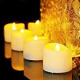 Benvo LED flammenlose Kerzen, 3.8cm elektrische flackernde batteriebetriebene teelichter, LED votivkerzen warme weiße, 12 Pack - 4