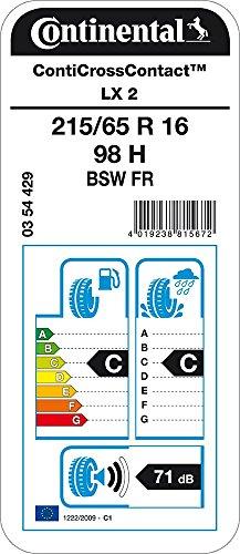 CONTINENTAL ContiCrossContact LX 2   - 215/65/16 098H - C/C/71dB - Pneumatico Per tutte le stagioni (SUV e Fuoristrada)