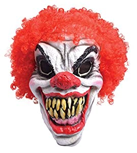 Rubies BM461-Máscara payaso terror con peluca, talla única