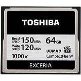Toshiba Exceria CompactFlash 64GB (bis zu 150MB/s lesen) Speicherkarte schwarz