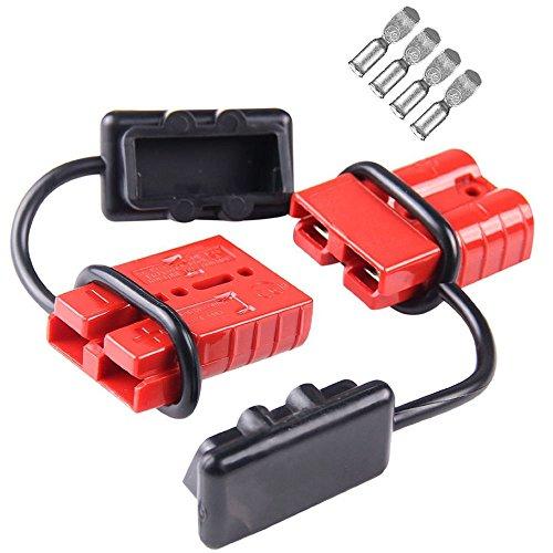 Tutoy 2St 50A 600W Battery Quick Connect/Disconnect Kabel Baum Steckverbinder Kit Winch Trailer - Quick Connect Batterie