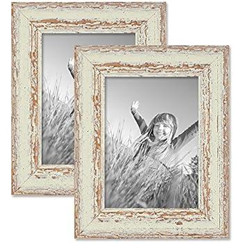 set da 2 cornici per foto da 13x18 cm bianco shabby chic