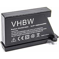 vhbw Li-Ion batería 3000mAh (14.4V) para robot limpiasuelos robot autónomo de