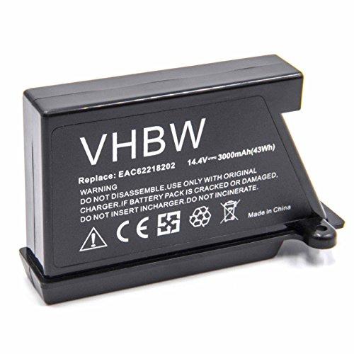 Vhbw Li-Ion batería 3000mAh robot limpiasuelos robot