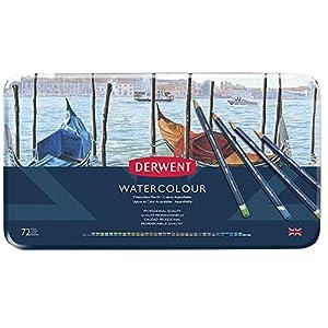 Derwent Watercolour Pencils, Set of 72, Professional Quality, 32889, Multicolour