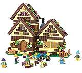 Modbrix Prinzessin Schneewittchen und die 7 Zwerge inkl. mehrstöckigem Zwergenhaus, Konstruktionsspielzeug 658 Teile