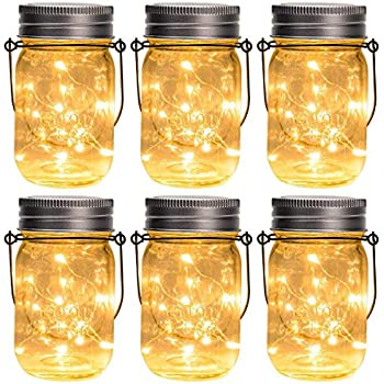 Gadgy ® Mason Jar Solar Lights Fairy Lights3 pcs USB Rechargeablewith U...