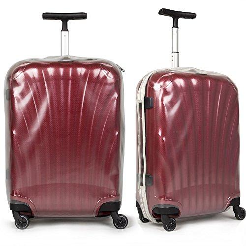 Custodia protettiva per bagagli Protezione trasparente trasparente in PVC per custodia per carrello per valigia per Samsonite Cosmolite (solo copertina)