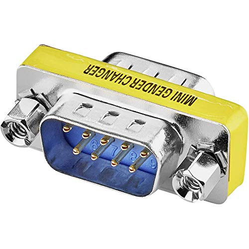 Renkforce Seriell Adapter [1x D-SUB-Stecker 9pol. - 1x D-SUB-Stecker 9pol.] 0 m Gelb -