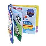 Sharplace Bunt Tuchbuch Weichen Stoffbuch Erkennungsbuch - Baby Kleinkind Pädagogisches Spielzeug - Verkehrsmittel