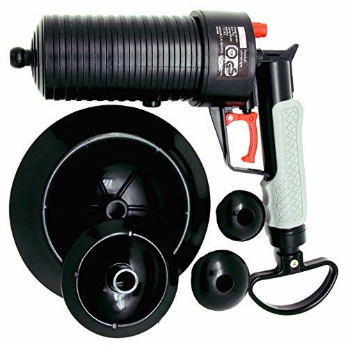 mLabs Pressluft Rohrreiniger für Bad und Küche - TÜV geprüft - Rohrreinigerpistole mit vier Aufsätzen zur Reinigung verstopfter Abflüsse (Pistolengriff-pumpe)