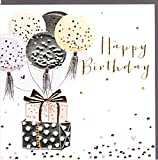 Belly Button Designs Paloma bezaubernde Glückwunschkarte zum Geburtstag 'Happy Birthday' mit Prägung, Folie und Kristallen BB398
