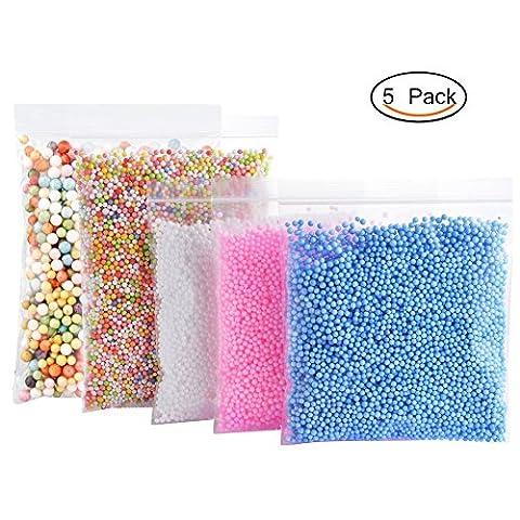 Laconile Perles en mousse pour Slime-5Lot coloré Perles en mousse pour enfants DIY Arts Crafts, Homemade fin, mariage, décorations de fête