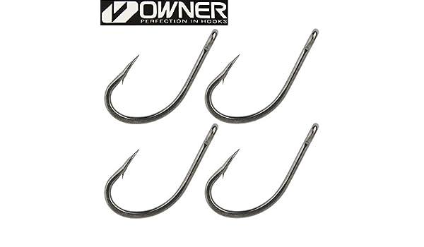 4 Karpfenhaken zum Angeln auf Karpfen Einzelhaken Angelhaken zum Karpfenangeln /Öhrhaken Owner Carp C1 Haken Hook